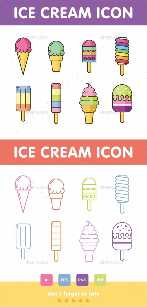 GraphicRiver Ice Cream Icon Set Vector 21054902