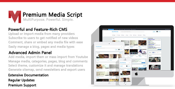 Premium Media Script - CodeCanyon Item for Sale