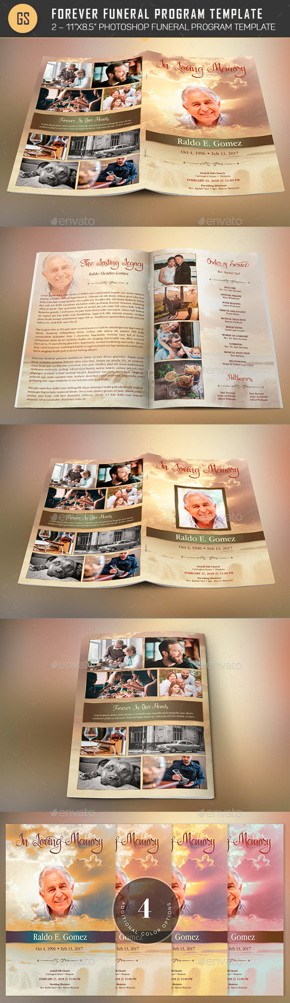 GraphicRiver Forever Funeral Program Template 21054997