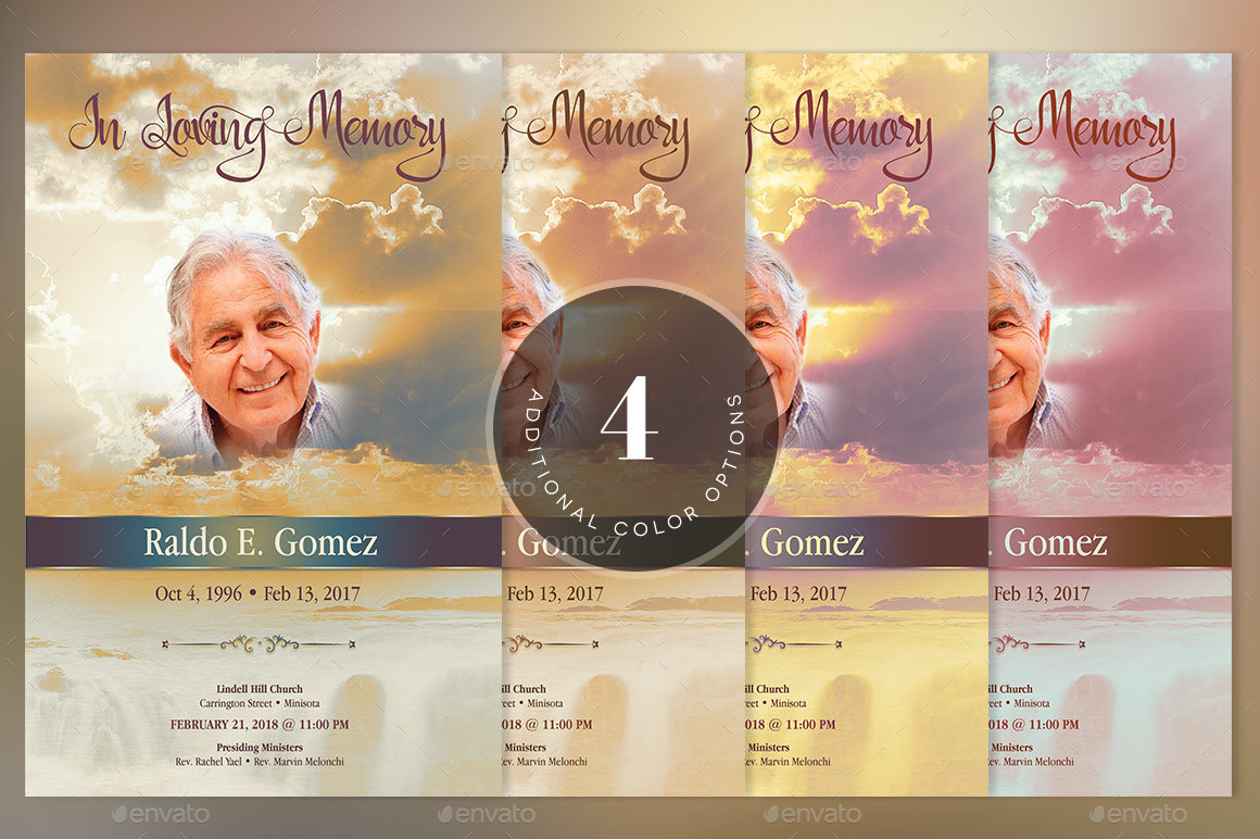 Forever funeral program template by godserv2 graphicriver image setforever funeral program template preview 7g pronofoot35fo Image collections