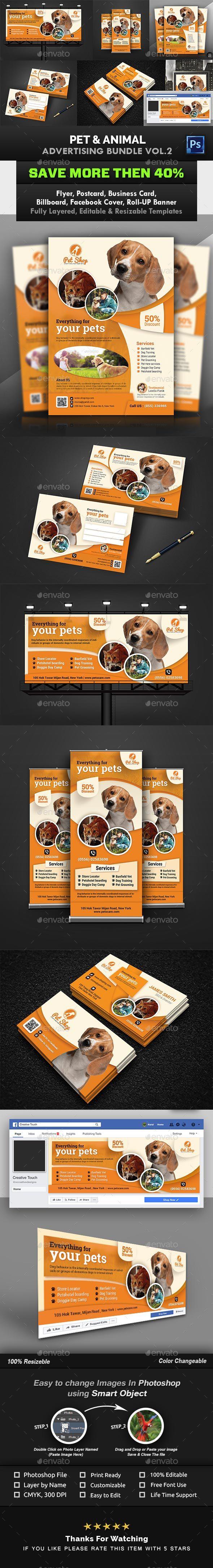 GraphicRiver Pet & Animal Advertising Bundle Vol.2 21054998