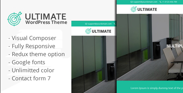 Ultimate Multiple Purpose WordPress Theme - Business Corporate