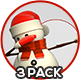 3D Snowman Standing - 3 Pack - GraphicRiver Item for Sale
