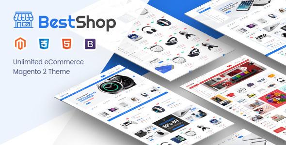 Download Free BestShop - Responsive Hitech Magento 2 Theme