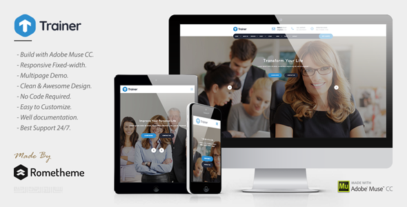ThemeForest Trainer Trainer Mentor and Coach MUSE Template 21055057