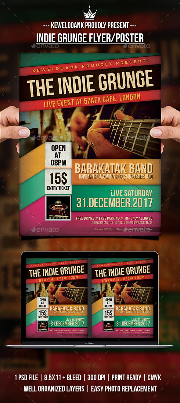 GraphicRiver Indie Grunge Flyer Poster 21055063