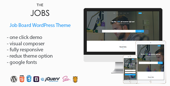 TheJobs - Job Board WordPress Theme - Directory & Listings Corporate