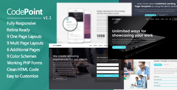CodePoint - Multi-Purpose Landing Page WordPress Theme