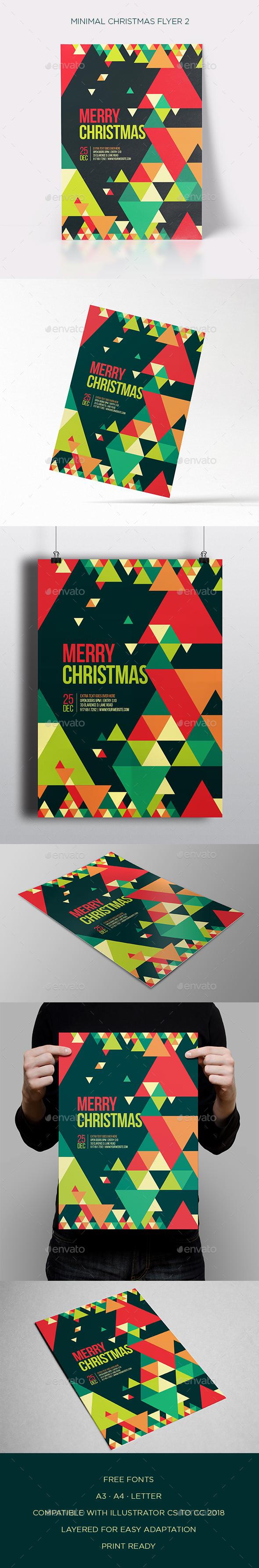 GraphicRiver Minimal Christmas Flyer 2 21055126