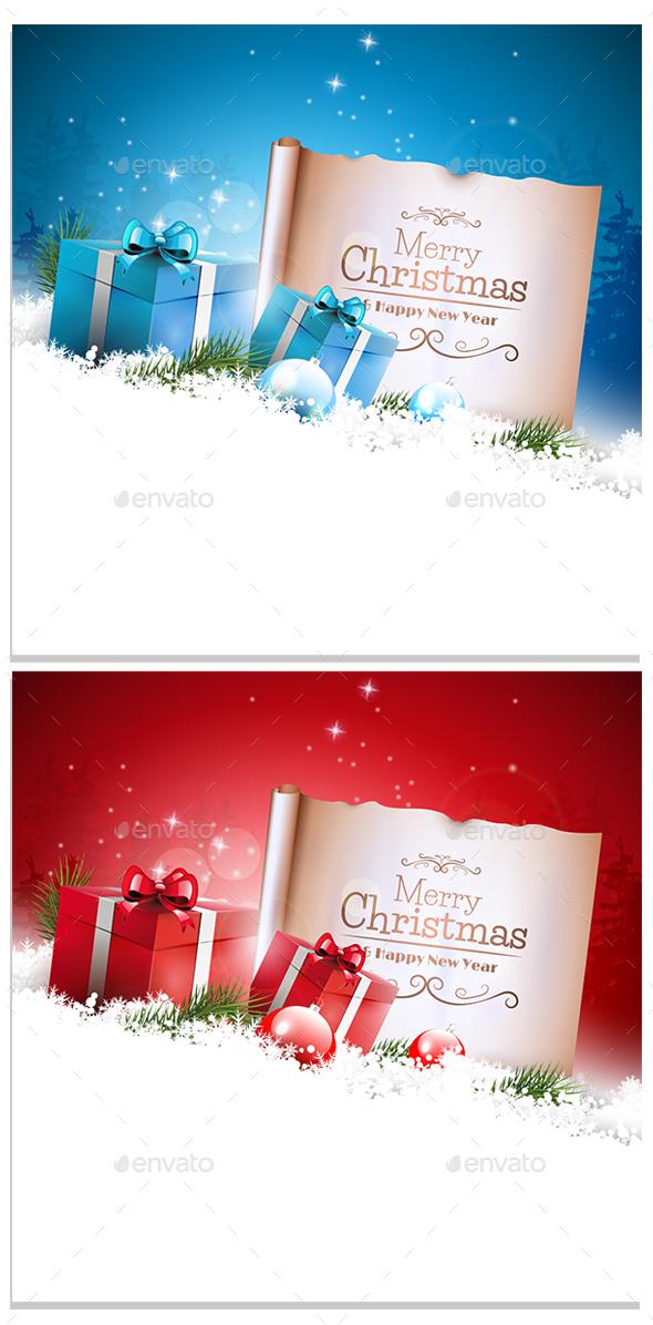 GraphicRiver Christmas Card 21055136
