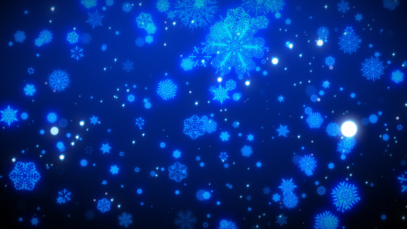 VideoHive SnowFlakes Loop Background 21055159