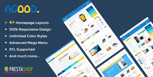 Image of Agood - Store Responsive Prestashop Theme
