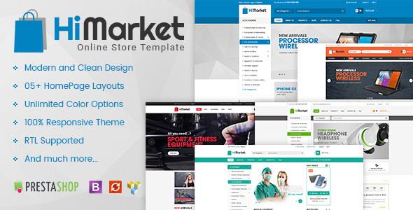 Image of HiMarket - Multipurpose Responsive Prestashop 1.6 and 1.7 Mega Shop Theme