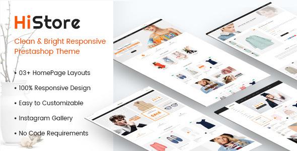 HiStore - Clean and Bright Responsive PrestaShop Theme - PrestaShop eCommerce