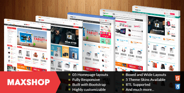 Image of Maxshop - Multipurpose Responsive Prestashop Theme