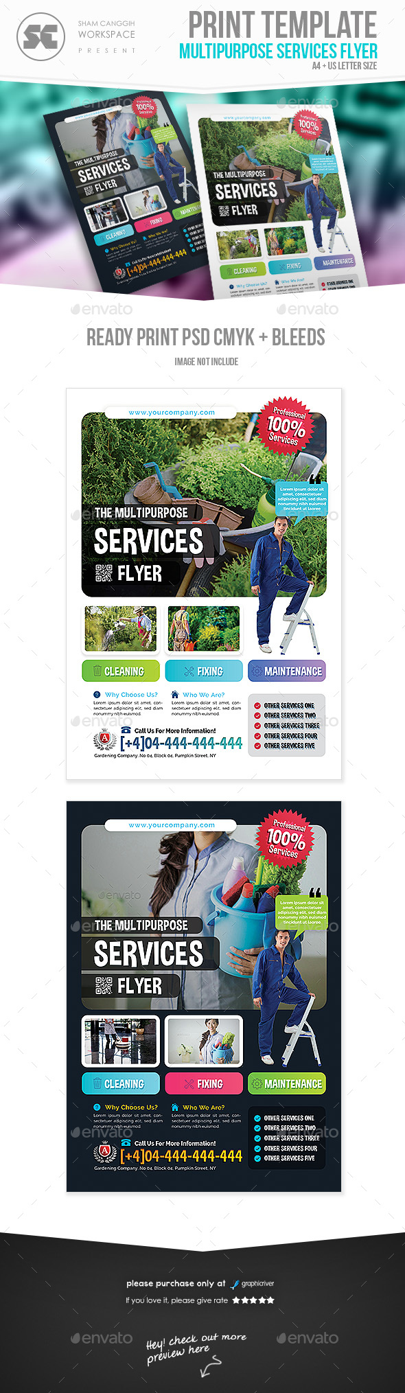 GraphicRiver Multipurpose Services Flyer 21055226