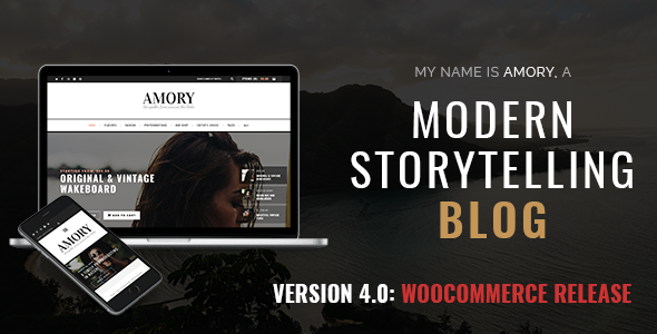 Amory Blog - A Responsive WordPress Blog Theme - Personal Blog / Magazine