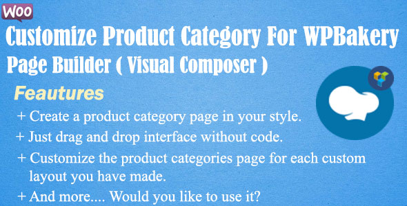 Customize Product Category For Visual Composer - CodeCanyon Item for Sale