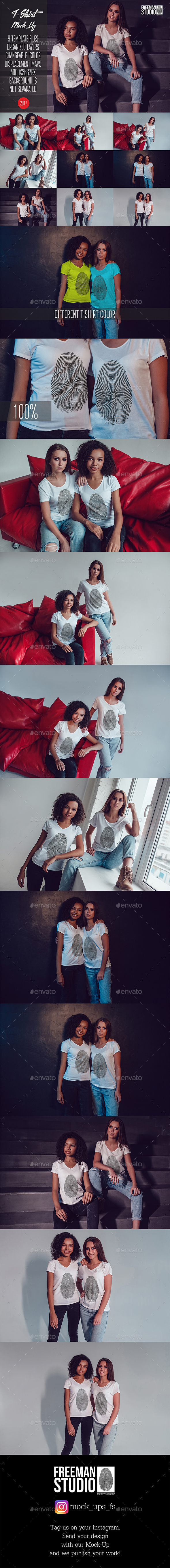 GraphicRiver T-Shirt Mock-Up Vol.25 2017 21055354