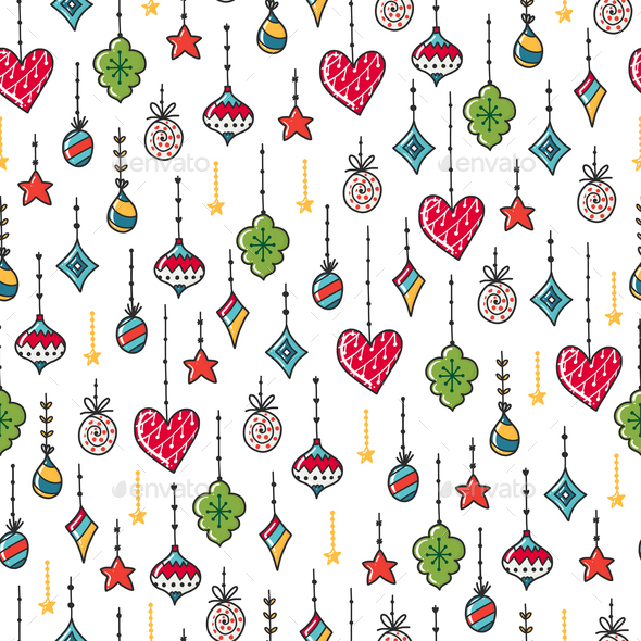 GraphicRiver Vector Christmas Pattern 21055446