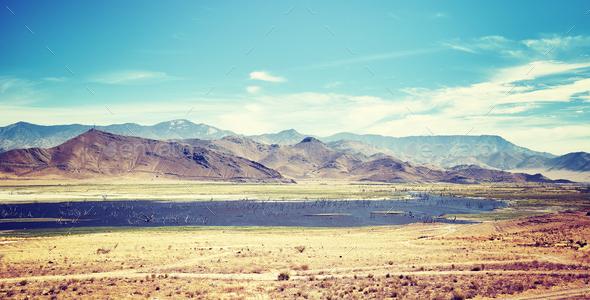 Death Valley National Park landscape, USA - Stock Photo - Images