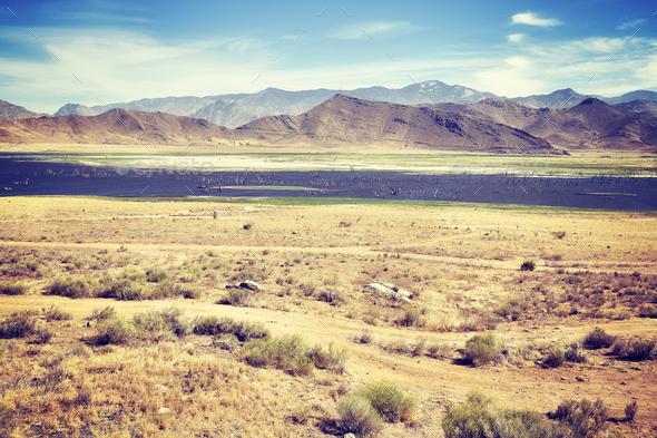Death Valley National Park landscape, USA - Stock Photo - Images