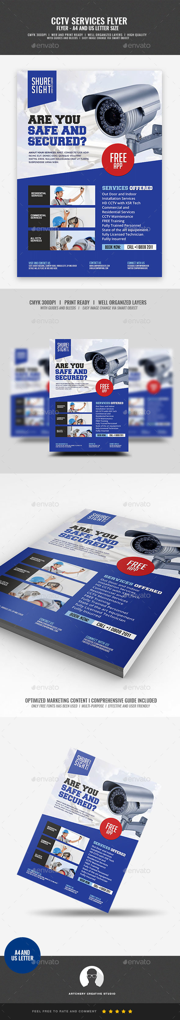 CCTV Shop and Installation Service Flyer - Corporate Flyers