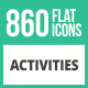 860 Activities Flat Icons