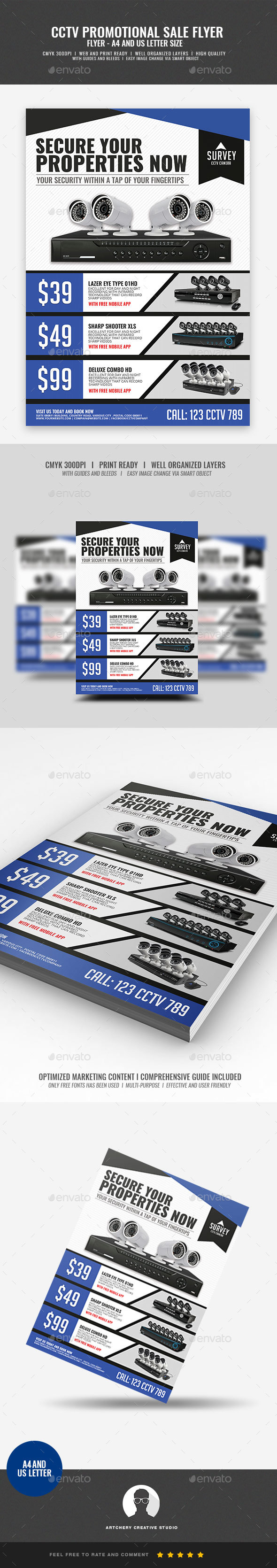 CCTV Promotional Product Flyer - Corporate Flyers