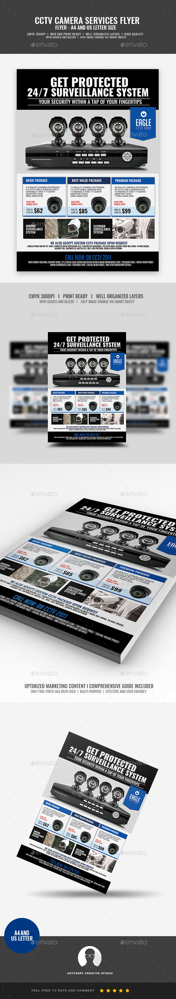 Security Camera CCTV Shop - Commerce Flyers
