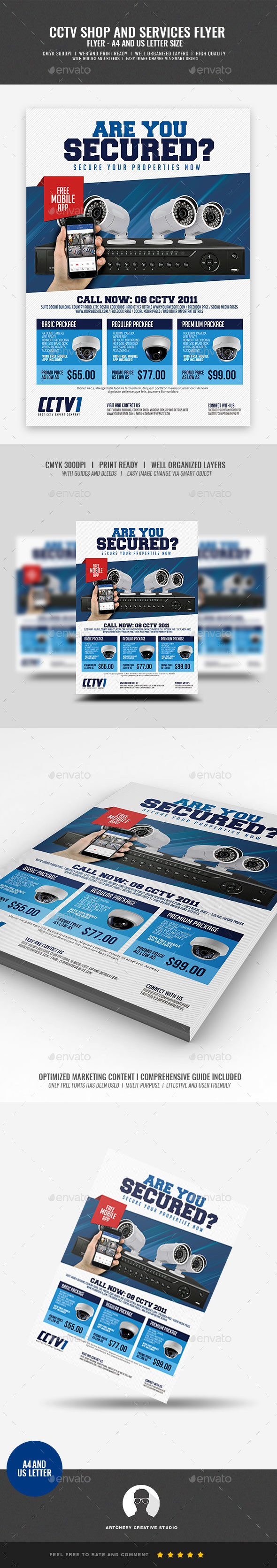 CCTV Package Flyer - Commerce Flyers
