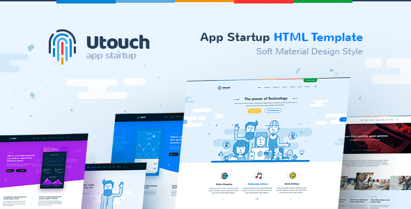 Image of Utouch - HTML Template for IT Startup, Business, Product, Events and Courses