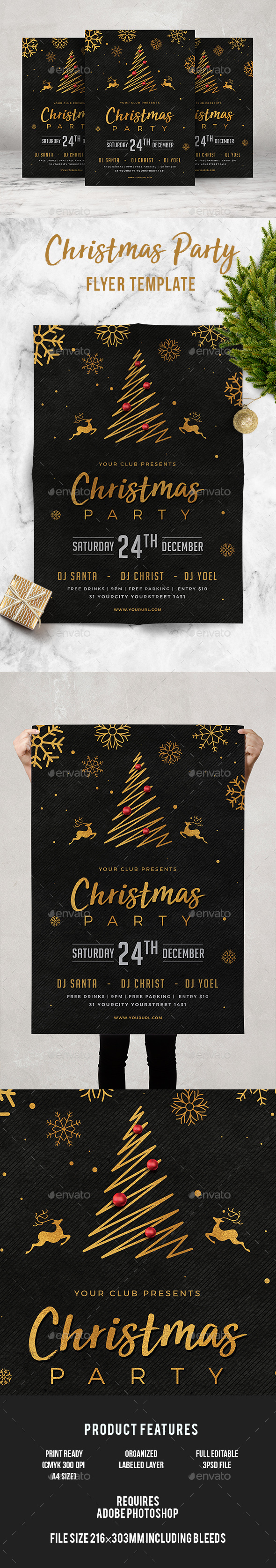 GraphicRiver Christmas Party Flyer 21055912