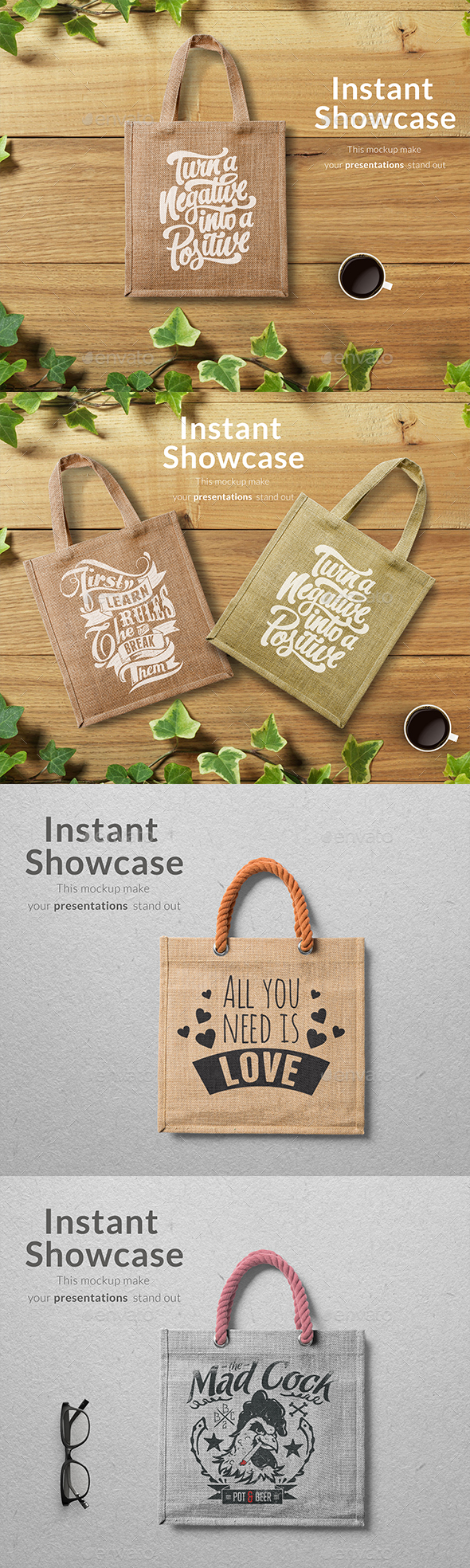 Eco Bag Mockup - Product Mock-Ups Graphics