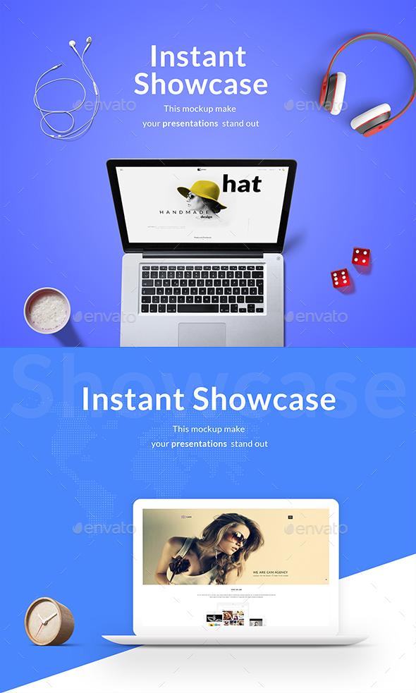 Modern Macbook Mockup - Product Mock-Ups Graphics