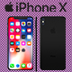Black Iphone X 3D Model