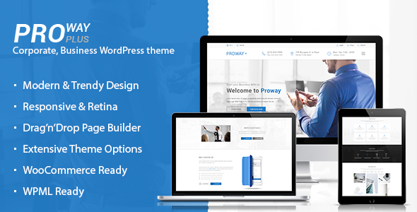 ProWay Plus - Business, Finance WordPress theme - Business Corporate