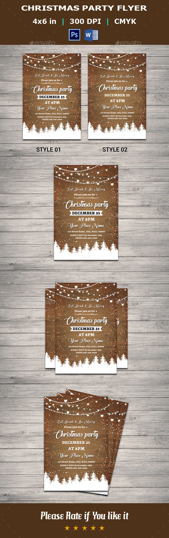 GraphicRiver Christmas Party Flyer V14 21056281