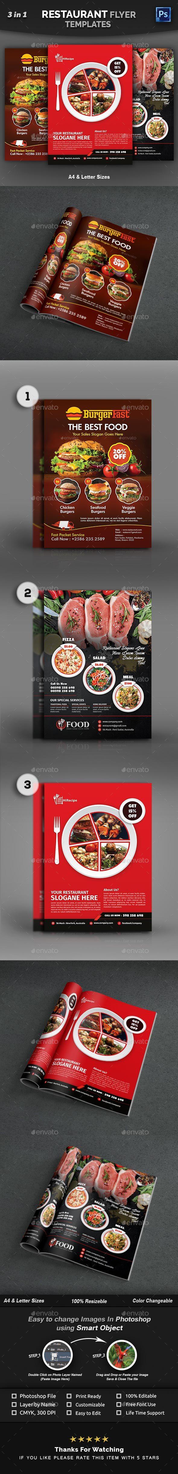 GraphicRiver Restaurant Flyer Burger Flyer Templates 21043342