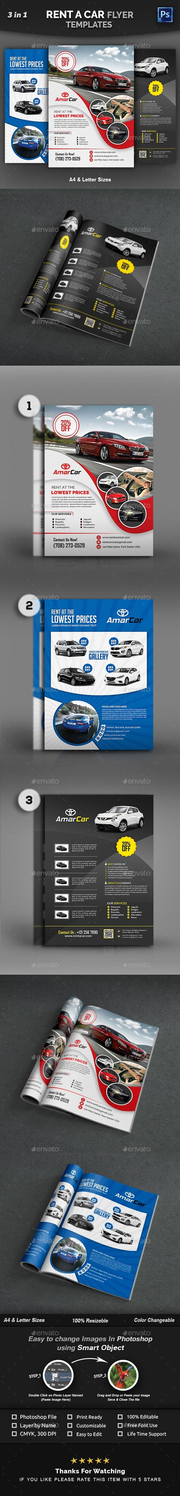 GraphicRiver Rent a Car Flyer Templates 21041393
