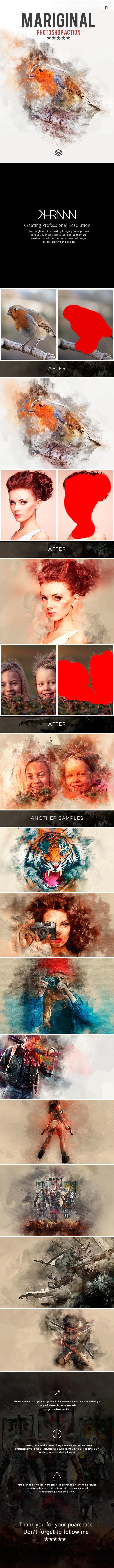 GraphicRiver Mariginal Photoshop Action 21056439