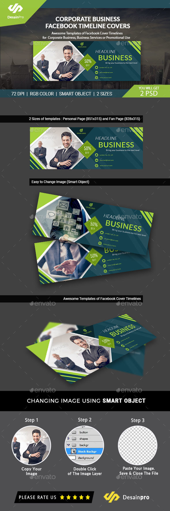 Business FB Cover Templates - AR - Facebook Timeline Covers Social Media