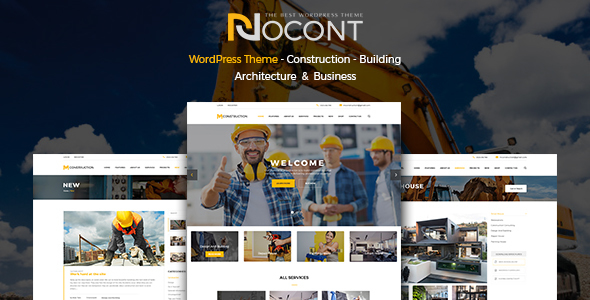 Image of Nocont - Construction & Building WordPress Theme