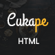 Cukape - Restaurant Cakes and Coffee Shop Template - ThemeForest Item for Sale