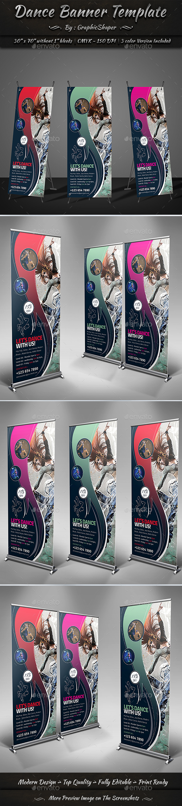 Dance Banner Template - Signage Print Templates