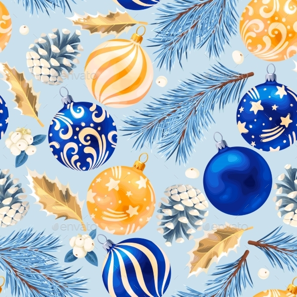 GraphicRiver Seamless Christmas Decorations 21056840
