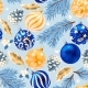 Seamless Christmas Decorations - GraphicRiver Item for Sale