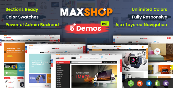 Image of MaxShop - Advanced Multipurpose Shopify Sections Theme