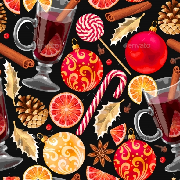 Seamless Mulled Wine - Food Objects