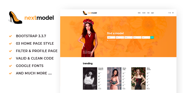 Download Next Model - Media Agency & Listing Website Template